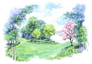 マンションの共有庭園