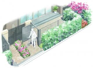 マンションの専用庭
